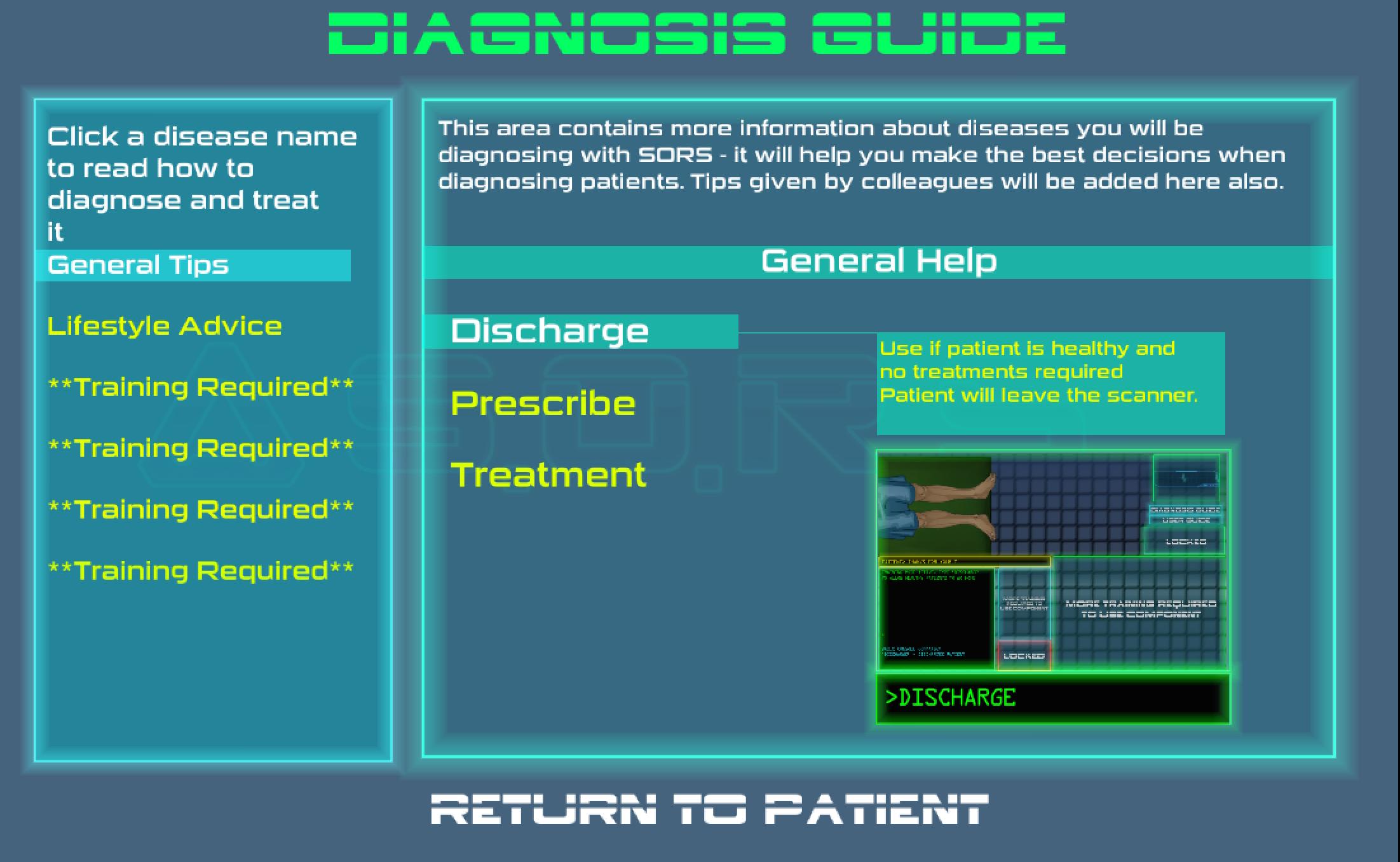 After- new <em>SORS</em> diagnosis guide screen